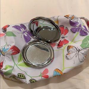 Makeup bag and compact mirror bundle deal NWT